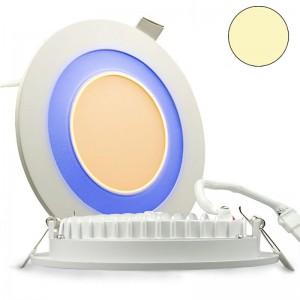 LED-Effekt-Glas-Downlight-Grau-Blau