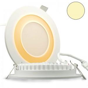 LED-Effekt-Glas-Downlight-Grau-Orange